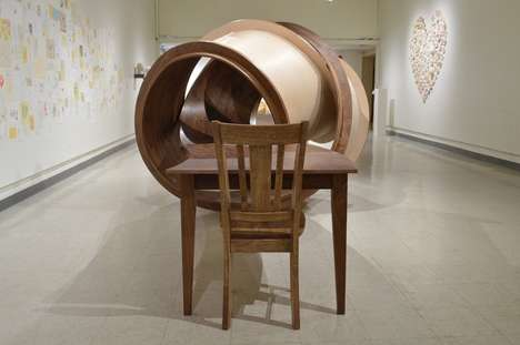 Tangled Table Sculptures - The Latest Furniture Sculpture by Michael Beitz is a Knotted Table
