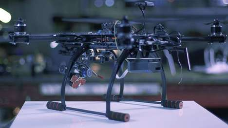 Versatile Drone Attachments - Percepto Computer Vision Adds App-Controlled Features to Drones