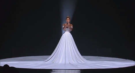 Cosmic Infinity Dresses - Jennifer Lopez Wears a Stunning Gown During Her American Idol Performance