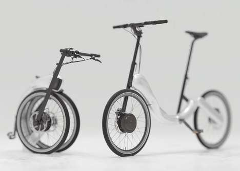 Chainless Folding Bikes - The JIVR Folding Bike Reduces Clutter with a Chainless Design
