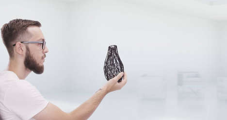 Customizable 3D-Printed Vessels - The Wire Vase by Ivan Zhurba Can Be Personalized by Customers