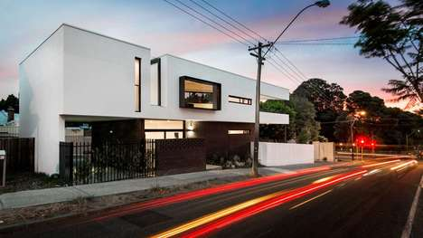 Angular Whiteout Abodes - This Sprawling Triangular House is a Minimal Marvel of Design