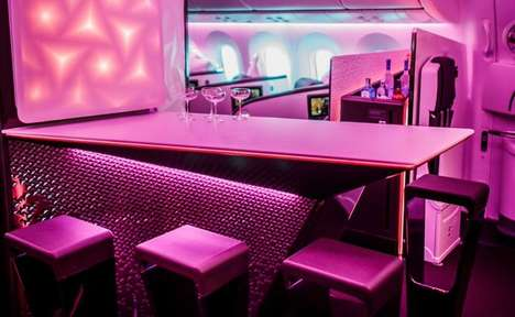 Luxe Aviation Discos - The Virgin Atlantic 787 Dreamliner is an Airline With an In-House Night Club
