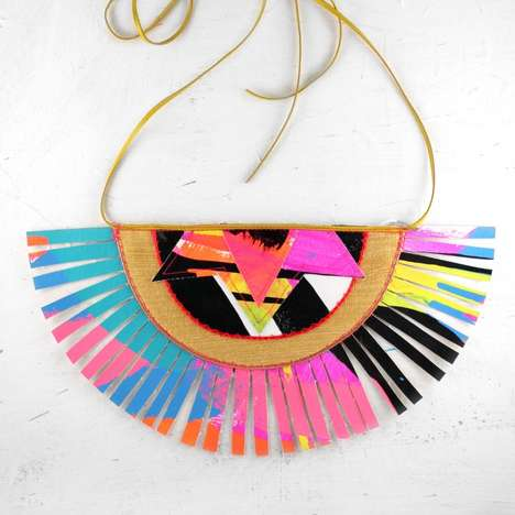 Electric-Hued Tribal Jewelry - This Aztec Necklace is Inspired by Hispanic Culture