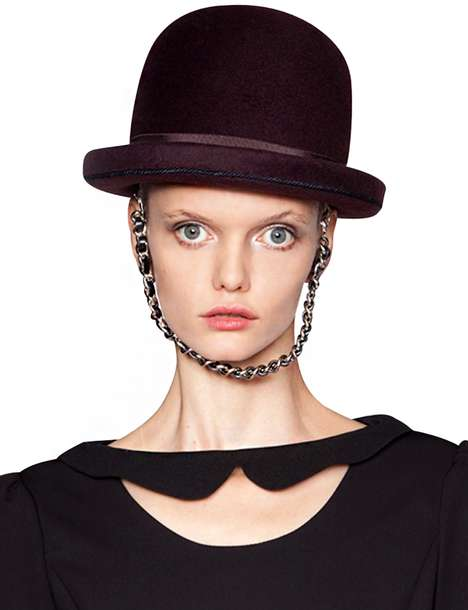 Chained Bowler Hat Accessories - Pixie Market's Vintage Headpiece is an Homage to English Style