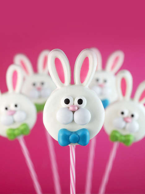 Easter Cookie Pops - Bakerella's Cookie Pop Recipe Turns Oreos into Festive Easter Bunnies