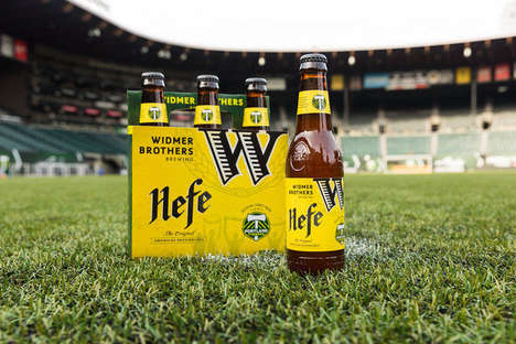 Collaborative Sports Beers - Combining Beer and Sports, Widmer Hefe Represents the Portland Timbers