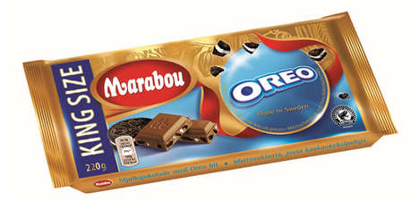 Hybrid Chocolate Bars - This Mondelez Treat Combines Marabou and Oreo Chocolate