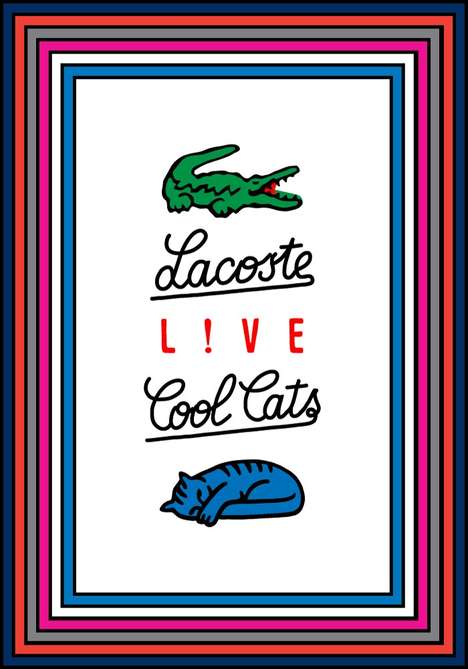 20 Lacoste Logo Innovations - From Atypical Alligator Branding to Artistic Logo Interpretations