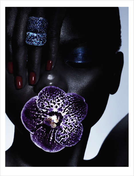 Seductive Accessory Editorials - Wylde Magazine's La Fleur Noir Story Boasts Extravagant Jewelry