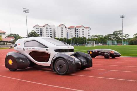 3D-Printed Solar Cars - Students at NTU Created a Futuristic Car Design with Additive Manufacturing