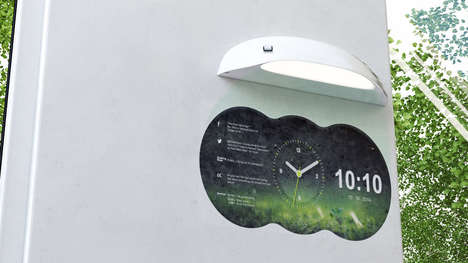 Stylish Smart Clocks - The Coolest Clock Can Project Social Updates, News to Keep You Informed