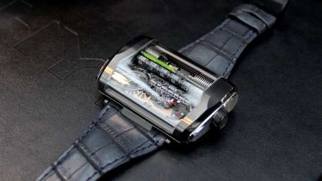 Linear Display Watches - The HYT H3 Watch Uses a Hydro-Mechanical Movement