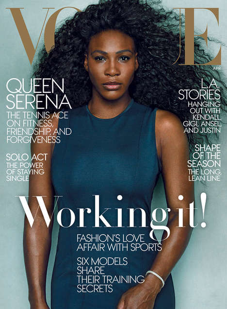 Dynamic Athlete Editorials - The Serena Williams Vogue Cover Captures the Tennis Star at Her Best