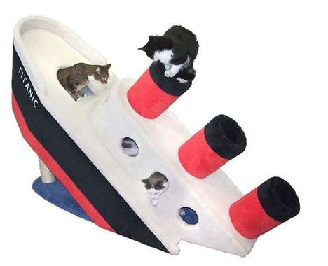 Sinking Feline Abodes - This Luxury Cat Bed Draws Inspiration From the Titanic