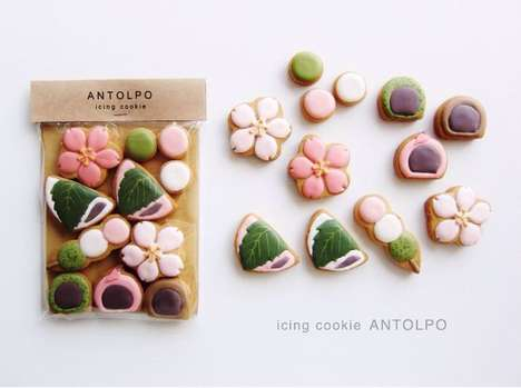Decorative Bespoke Biscuits - Antolpo's Icing Cookies Can Be Customized by Consumers