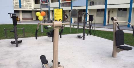 Senior Fitness Stations - Public Workout Stations Help Singapore's Elderly Stay Fit