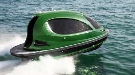 Compact Reptilian Watercrafts - The Jet Capsule Reptile Can Speed Along At Over 90 Km/H