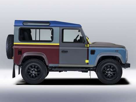 Fashion Designer Cars - The Paul Smith Land Rover Defender Sports 27 Different Paint Colors