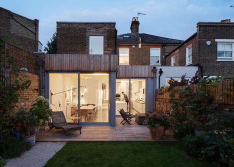 Opulent Home Extensions - The Highlever House is a Timber-Clad Residence in Quaint West London
