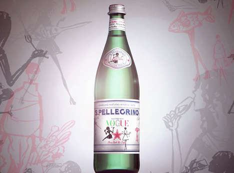 Fashion-Focused Water Branding - This Exclusive San Pellegrino Bottle Pays Homage to Vogue Italia