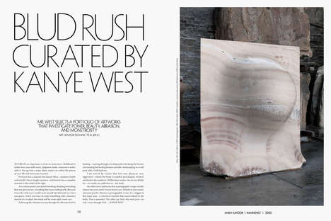 Rapper-Curated Art Selections - A New Spread in CR Fashion Book Features Kanye West as Curator