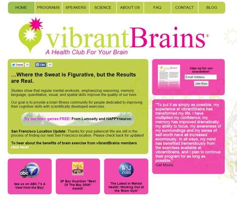 Aging Brain Health Clubs - vibrantBrains is a Fitness Club Dedicated to Boomer Brain Health