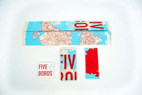 New York-Inspired Packaging - Five Boros Chocolate is Wrapped in a Stylish Map of the Big Apple