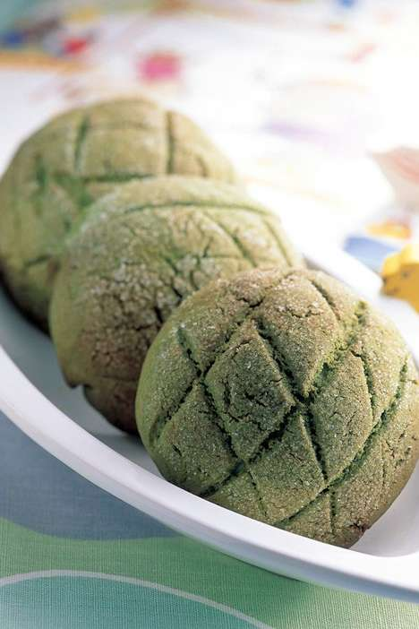Tea Sweet Buns - This Recipe for Matcha Melon Bread is a Yummy Green Tea-Integrating Dessert