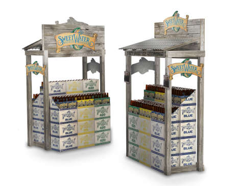 Fishing Shack Beer Displays - This Retail Display Plays Up Streetwater Brewing's Beach Branding