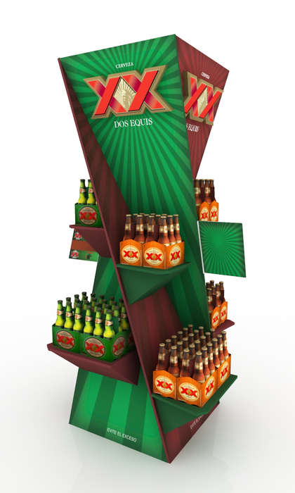 Compelling Beer Stands - This Beer Retail Display for Dos Equis is an Effective In-Store Ad