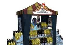 Cartoony In-Store Branding - This Case Stacker Display for Rex Goliath Wines is an Invitation to Fun