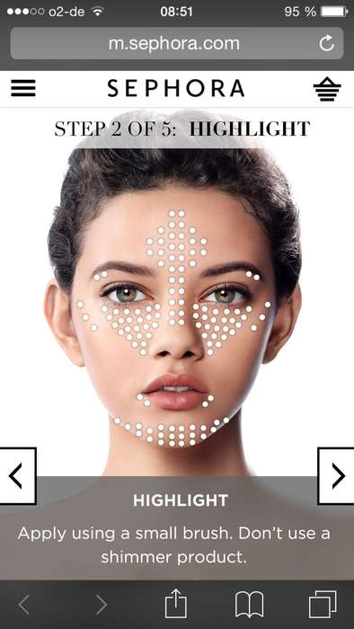Beauty Tutorial Apps - Through Sephora, Map My Beauty Shows How and Where to Apply Cosmetics