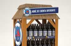 Beach-Evoking Beer Displays
