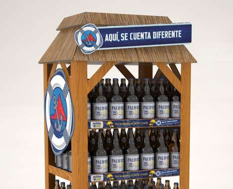 Beach-Evoking Beer Displays