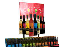 Chromatic Wine Displays - Alice White's Stacking Retail Display Puts Color First