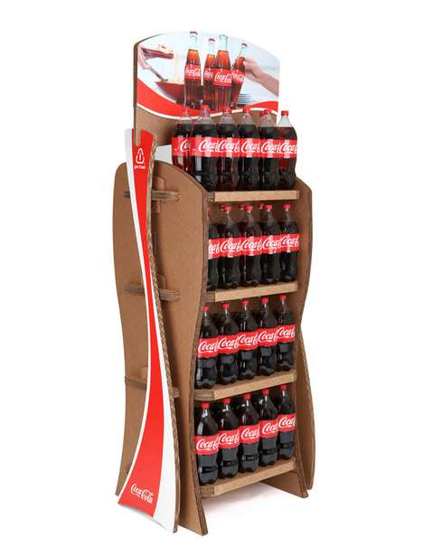 Coca-Cola Cardboard Displays - The 'Give It Back Rack' is Part of the Brand's Big Green Initiative