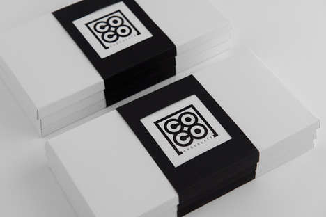 Two-Tone Truffle Packaging - These Black and White Chocolate Boxes Have a Highly Graphic Look