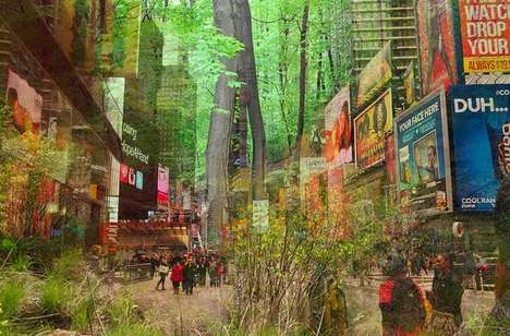 Crowdfunded Urban Forests - The PopUP Forest Project Wants to Transform Times Square into Greenery