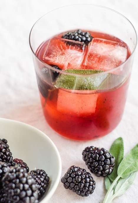 Blackberry Rum Cocktails - The Hint of Spring Heralds the Start of Spring With Blackberry and Sage