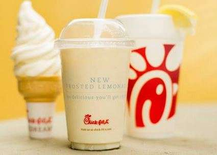 Refreshing Frosted Lemonade - Chick-fil-A Creates an Icy Drink Perfect for Hot Summer Afternoons