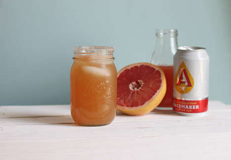 Refreshing Beer Cocktails - The Pink Grapefruit Shandy Puts a Seasonal Twist on the Summery Beverage