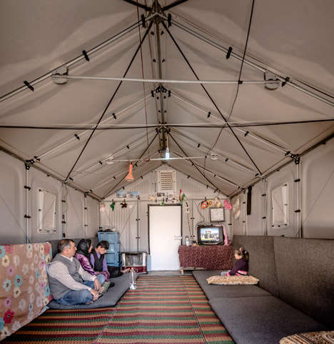 Easy-Assemble Refugee Housing - The IKEA Flat-Pack Shelters Can Be Set Up in Just 4Four Hours