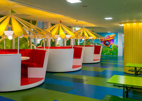 Vivid Kaleidoscopic Workplaces - The Candy Crush Offices in Stockholm Are a Colorful Cartoon Kingdom