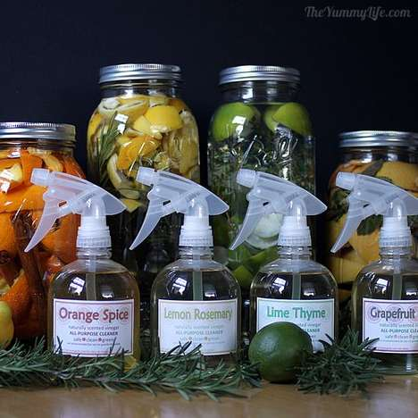 Scented Vinegar Cleaners - The Yummy Life's All-Natural Homemade Cleaners Mask Vinegar's Harshness
