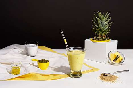 Energy-Boosting Blended Beverages - This Pineapple Smoothie is a Source of Healthy Fats and Protein
