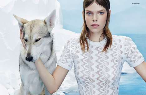 Edgy Arctic Photoshoots - Meghan Collison Stars in this Icy Numero Russia Editorial
