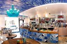 Mediterranean Yogurt Shops - Go Greek's Beverly Hills Yogurt Store Boasts a Flavorful Interior