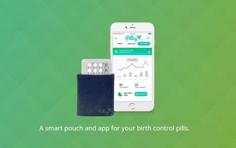 Contraception-Minding Apps - The Pillsy Smart Pouch and App Helps Women Manage Their Birth Control