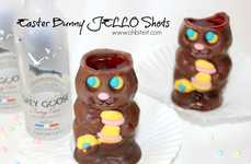 Boozy Bunny Shots - This Extra Festive Easter Drink is a Chocolate Bunny-Themed Jello Shooter